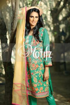 #motifzembroideredlawn #lawn #motifzlawn #motifz #brandedlawn MWU00996-999-ELECTRIC-GREEN Item Type: UN Stitched Three Piece, Shirt Fabric: Lawn, Includes: Front, Back, Sleeves, Crinkle Embroidered Dupatta, Pure Cotton Trouser Retail Price: 5,490