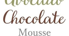 This rich Avocado Chocolate Mousse is healthy, gluten-free, dairy-free and vegan.
