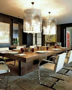 Modern Contemporary Dining Room Table Dining Room Design Ideas for Big and United Families Dining Room Sets, Dining Room Lighting, Dining Room Furniture, Dining Room Table, Dining Area, Furniture Design, 12 Person Dining Table, Furniture Ideas, Table Lighting