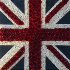 ARMED FORCES DAY JACK REMEMBERS BY JACQUELINE HURLEY UNION FLAG GREAT BRITAIN UNITED KINGDOM UNION JACK POPPIES REMEMBRANCE PAINTING Great Britain United Kingdom, Union Flags, England Ireland, Remembrance Day, Lest We Forget, Union Jack, Beautiful Space, Red White Blue, Contemporary Paintings