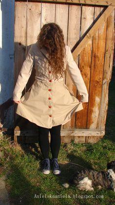 DIY trench coat refashion przeróbka płaszcza beżowy płaszczyk diy