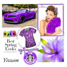 """""""Yizzam  1"""" by followme734 ❤ liked on Polyvore featuring H&M, springfashion, yizzam and lovepurple"""