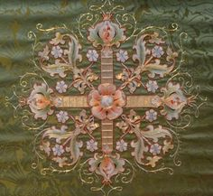 Green altar frontal : detail  (North Stoke Church, Oxon.)