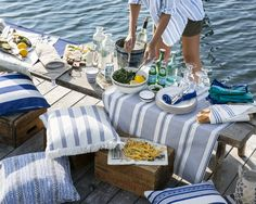 The Lexington Company is known for offering luxury designs in home textiles and apparel for men and women, inspired by New England style' - trends. Shop for the latest home collections & clothing from Lexington! Lexington Home, Picnic Mat, New England Style, Pillow Fabric, Summer Picnic, Home Collections, Game Design, Summer Collection, The Hamptons