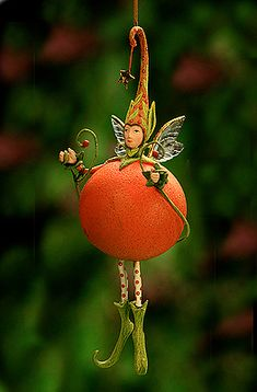 Krinkles Tangerine at the Toe Ornament
