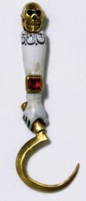 Enameled gold toothpick with ruby, possibly Engish, ca. 1620  Photo © Victoria and Albert Museum, London