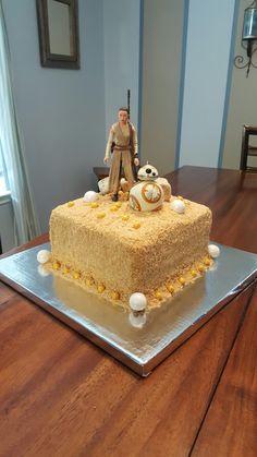 Star Wars The Force Awakens Rey birthday cake