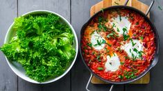 Cowboygryte med bønner og egg Vegetarian Eggs, Bastilla, Pasta, Always Hungry, Tex Mex, Palak Paneer, Bon Appetit, Tapas, Yummy Food