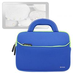 Evecase Neoprene Sleeve Case Bag for DigiLand DL1010Q 10.1-Inch Capacitive Multi-Touch Tablet - Blue with Handle and Accessory Pocket - http://leather-handbags-shop.com/evecase-neoprene-sleeve-case-bag-for-digiland-dl1010q-10-1-inch-capacitive-multi-touch-tablet-blue-with-handle-and-accessory-pocket/