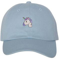 UNICORN Dad Hat, Embroidered Rainbow Unicorn Baseball Cap Rainbow Dad... (53 BRL) ❤ liked on Polyvore featuring accessories, hats, sky blue hat, rainbow hat, baseball caps, bills hat and baseball cap hats