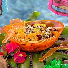 Bring the flavors of the islands to your luau buffet! Click through for our Orange, Fennel and Quinoa Salad recipe! Serve this in a Neon Orange Oval Serving bowl for a colorful touch at your buffet!
