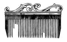Vintage comb tattoo flash by Miss Sita @ one o nine barcelona