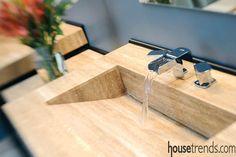 Sinks help to create a modern bathroom
