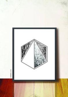Geometric art print. 8 x 10in poster wall art.