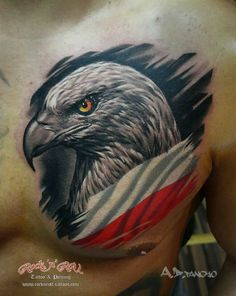 Tribal Sleeve Tattoos, Skull Tattoos, Animal Tattoos, Polish Eagle Tattoo, Polish Tattoos, Cool Chest Tattoos, Badass Tattoos, Hip Tattoos, Freedom Tattoos