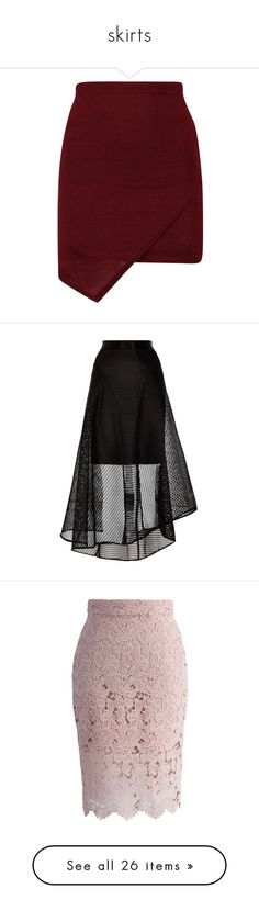 """skirts"" by nicole-matsui on Polyvore featuring skirts, mini skirts, bottoms, saias, faldas, wrap mini skirt, red wrap skirt, short wrap skirt, red skirt and mini skirt"