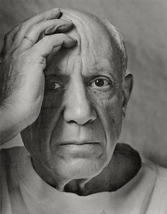 "db – Picasso, 1954 • Arnold Newman. Ja. I used to have this pic in my kitchen. I always thought he was telling me ""men what are we gonna eat now?"""