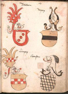 Wernigeroder (Schaffhausensches) Wappenbuch Süddeutschland, 4. Viertel 15. Jh. Cod.icon. 308 n Folio 169r