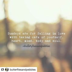 #Repost @butterfliesandpebbles (@get_repost)  #Sundays are for listening to your #dreams amongst a gentle #afternoon breeze and remembering that anything is possible and you are not as far away from your long-term #happiness as you think. Sundays are for #slowingdown so you notice the #butterflies that fly by whispering that the most #beautiful #moments are born from #darkness. Sundays are for you. To #breathe. To be. To #believe it will all happen in the right time. #Savoureverymoment.