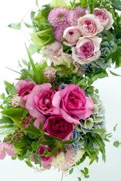 Rose with hydrangea. Flower Boquet, Floral Bouquets, Flower Vases, Window Box Flowers, Pretty Flowers, Pink Flowers, Beautiful Flower Arrangements, Floral Arrangements, Bloom Where Youre Planted