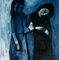 The gift, 1961 - by Charles Blackman - Australian Australian Painting, Australian Artists, Alice In Wonderland Series, Picasso And Braque, Painter Artist, Art Series, Sculpture, Aboriginal Art, Modern Artists
