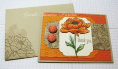 Stampin' Up! ... hand crafted card from Magnolia's Place ... kraft, orange  and vanilla ... tone on tone stamped envelope and panel ... layers of oranges embossed ... You've Got This ...
