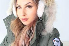 Winter Necessities: Pajar Serena Coat and Ear Muffs Earmuffs, Canada Goose Jackets, Winter Jackets, Coat, Beauty, Magazine, Nails, Fashion, Winter Coats