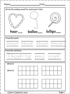 FREEBIE SAMPLE - FEBRUARY MORNING WORK - KINDERGARTEN - Grab this morning work which includes CVC words, ending sounds, reading, writing, sight words, addition, and ten frames.
