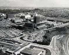 Bird's eye view of campus (1970s).