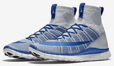 Nike Free Flyknit Mercurial Superfly Mens Shoes 10 Wolf Grey Royal 805554 003 #Nike #RunningCrossTraining