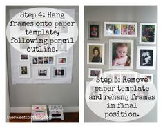 How to: Family Photo Display Wall - The Sweet Spot Blog