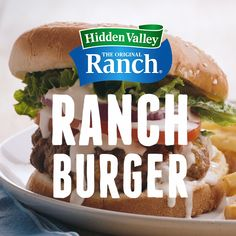 It's time to fire up some Ranch Burgers made with our Original Ranch Seasoning Mix. Tap the pin for the recipe! Ranch Burger Recipes, Ranch Burgers, Hamburger Recipes, Beef Recipes, Chicken Recipes, Cooking Recipes, Hamburger Spices, Hamburger Dishes, Easy Cooking
