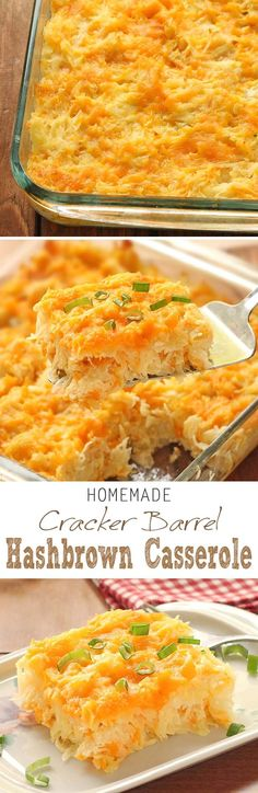 Homemade Cracker Barrel HashBrown Casserole is super easy to whip up, but grants you restaurant quality taste right in your own kitchen.