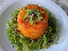 Receta Flancitos de zanahoria y queso, sin huevo