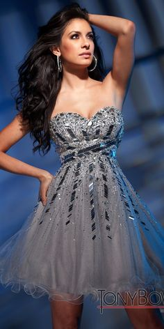 Silver Semi Formal dress!