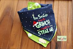 The Grinch Inspired Christmas Reversible and Layered Tie Around Dog Bandana – Dog Supplies