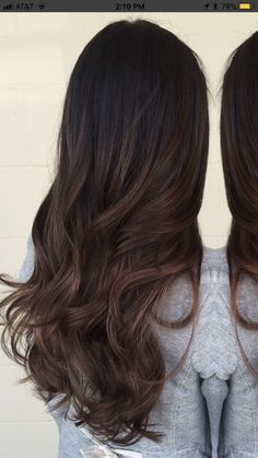 ideas for hair ideas for brunettes ombre highlights - Hair Rebecca Brown Hair Balayage, Brown Ombre Hair, Ombre Hair Color, Hair Color For Black Hair, Cool Hair Color, Hair Highlights, Hair Color For Morena, Chocolate Ombre Hair, Black Hair With Brown Highlights