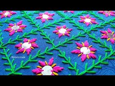 Terrific Free of Charge indian sewing tutorials Concepts Phulkari Embroidery, Hand Embroidery Videos, Hand Embroidery Flowers, Hand Work Embroidery, Simple Embroidery, Hand Embroidery Stitches, Crewel Embroidery, Handmade Embroidery Designs, Border Embroidery Designs
