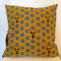 Hey, I found this really awesome Etsy listing at https://www.etsy.com/uk/listing/237445385/stags-grey-mustard-cushion