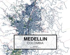 Medellin - Colombia. Download CAD Map city in dwg ready to use in Autocad. www.mapacad.com