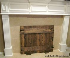 Homemade Faux Fireplace Handmade Cover Diy Gate Screens Mantle