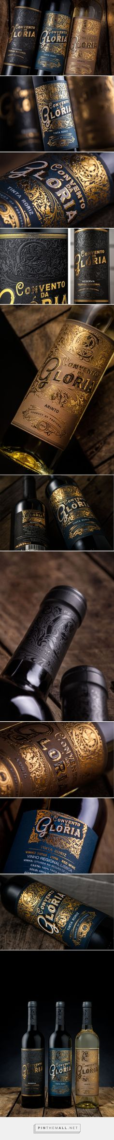 Convento da Glória wine label design by M&A Creative Agency (Portugal) - http://www.packagingoftheworld.com/2016/07/convento-da-gloria.html