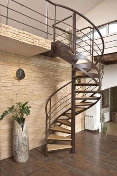 Find out all of the information about the ESCALIERS DECORS product: spiral staircase / metal frame / wooden steps / without risers Contact a supplier or the parent company directly to get a quote or to find out a price or your closest point of sale. Stairs Design Interior, House Design, Interior Stairs, Spiral Staircase, Home, Staircase Railings, Wooden Steps, Stairways, Concrete Stairs