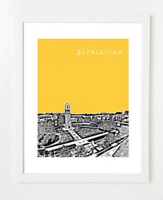Birmingham Southern College BSC Poster by BugsyAndSprite on Etsy for $20.00 -- How Cool!!!