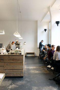 Trisha Travels: Around Berlin - Bloesem Bistro Restaurant, Cafe Bistro, Cafe Bar, Restaurant Design, Interior Architecture, Interior And Exterior, Interior Design, Cafe Design, Store Design