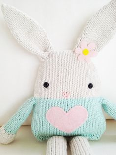 Bunny Knitting Pattern - Toy Easter Bunny Softie Pattern - PDF. $5.00, via Etsy.