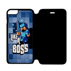 Minecraft Creeper iPhone 6 Flip Case Cover