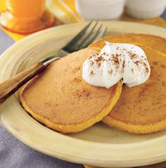 "Have you gone to Denny's and tried their pumpkin pancakes and thought, ""I wish I could find a way to make this at home..""? Well, I was playing around with all the pumpkin supplies I bought this pas..."
