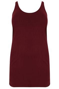 Burgundy Longline Vest Top Plus size Plus Size Womens Clothing, Plus Size Outfits, Plus Size Fashion, Clothes For Women, Wide Fit Shoes, Uk Size 16, Top P, Long A Line, Basic Tank Top