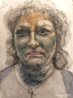 Continuous Line with Derwent ink pencil by Jan Paron 2017 #portrait #derwentinktense #scribbleart #continuousline
